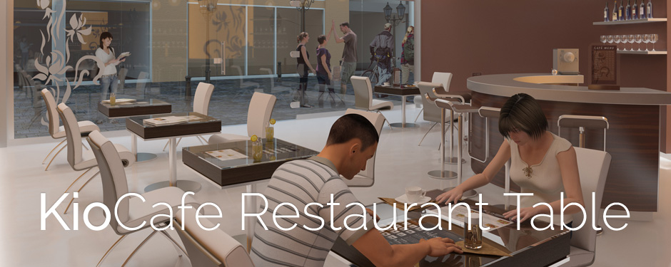 KioCafe Interactive Restaurant Table Touchscreen Table - Restaurant table displays