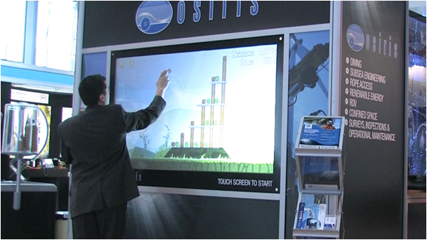 Large Touch Screen >> Touchfilms Rear Projection Large Format Touchscreens