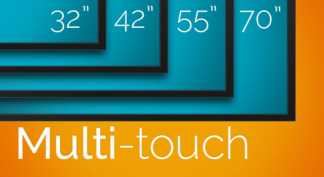 32″, 42″, 46″, 55″, 65″, 70″ & 84″ Touchscreen Displays with Multi-touch Technology