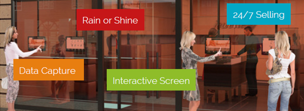 Interactive Property Window Displays similar to window touch foil