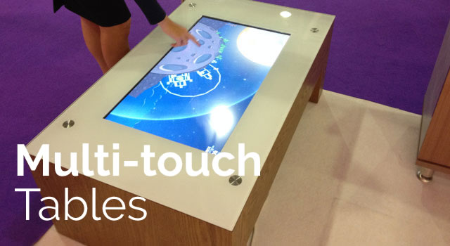 Multi-touch tables in sizes and designs to suit you