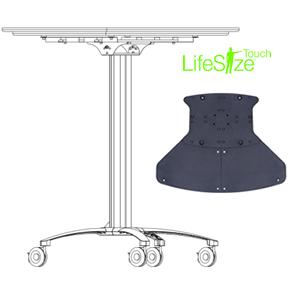 Touchscreen floor mount in tabletop position
