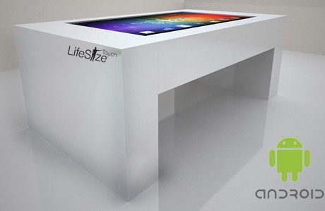 Android Multi-touch Table in White