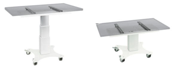 Mobile touchscreen table freestanding
